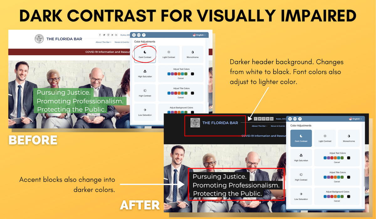 Dark Contrast for Visually Impaired