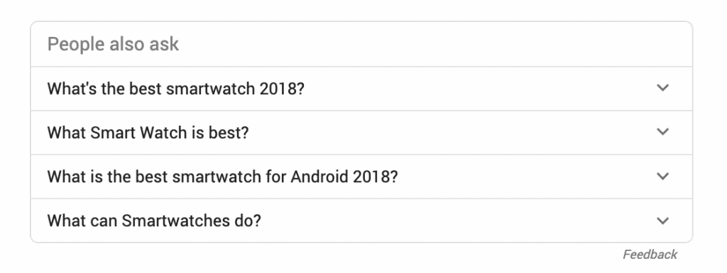 questions and answers serp features